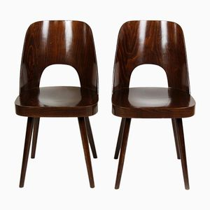 No. 515 Wooden Chairs by Oswald Haerdtl for TON, 1960s, Set of 2