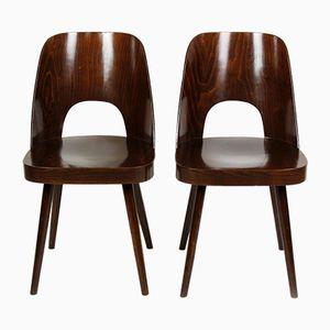 Nr. 515 Holzstühle von Oswald Haerdtl für TON, 1960er, 2er Set