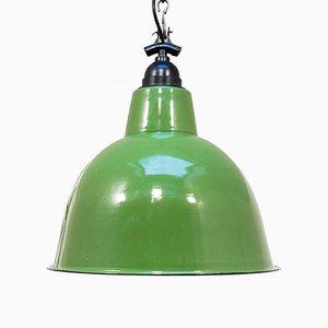 Mid-Century Green Enamel Pendant, 1950s