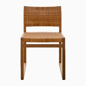 BM62 Rattan Chair by Børge Mogensen for Fredericia, 1950s