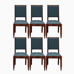 Art Deco Eiche Stühle von Charles Dudouyt, 1940er, 6er Set