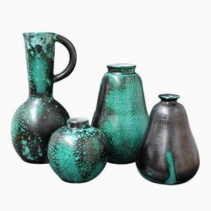 Keramik Vasen von Céramique d'art de Bordeaux für Primavera, 1930er, 4er Set