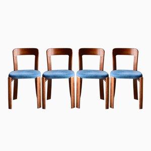 Chaises Vintage par Bruno Rey, Set de 4