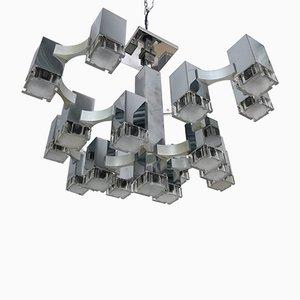 Lustre Cubic par Gaetano Sciolari, Italie, 1970s