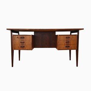 Dänischer Palisander Chefschreibtisch mit schwebender Tischplatte, 1960er