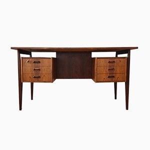 Danish Rosewood Floating Top Executive Desk, 1960s