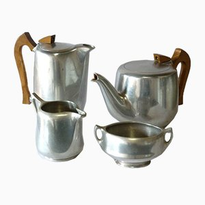 Vintage English Aluminum Tea & Coffee Set from Picquot Ware