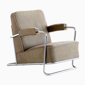 French B251 Lounge Chair by René Coquery for Thonet, 1930s