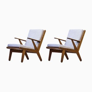Easy Chairs by Poul M. Volther for FDB, 1950s, Set of 2