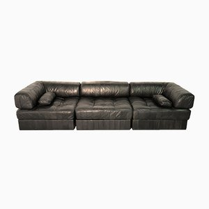 Swiss DS 88 Leather Sofabed from de Sede, 1960s