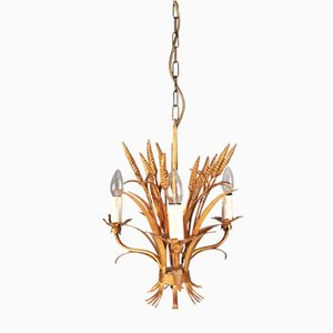 Golden Florentine Chandelier, 1970s