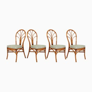 Bamboo Chairs, 1970s, Set of 4