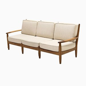 Mid-Century 3-Sitzer Sofa in Eiche, 1960er