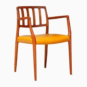 Dänischer moderner Teak Stuhl Number 66 von Niels Møller, 1960er