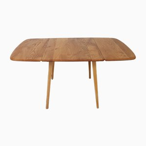 Vintage Elm Drop-Leaf Dining Table by Lucian Ercolani for Ercol, 1960s