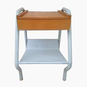 Mid-Century Nightstand by Jacques Hitier for Tubauto