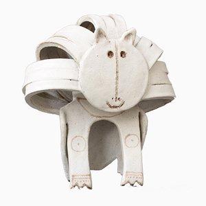 Keramik Löwen Skulptur von Bruno Gambone, 1970er