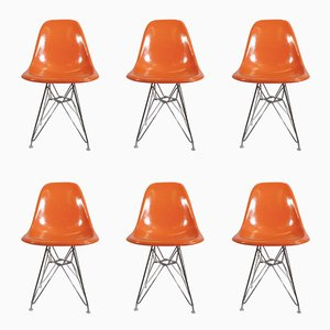 Vintage DSR Chairs by Charles & Ray Eames for Herman Miller, Set of 6