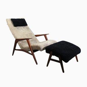 Mid-Century Siesta Sessel mit Fußhocker von JIÖ-Möbler