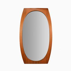 Italian Teak Mirror from La Sorgente Del Mobile, 1960s