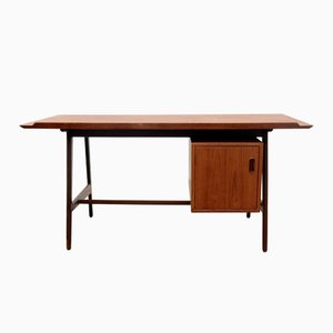 Mid-Century Teak Desk by Arne Vodder for Vamo Sønderborg