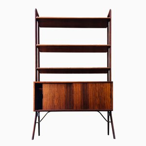 Rosewood & Teak Bookshelf Unit by Kurt Østervig for K. P. Møbler, 1960s