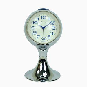 Horloge Alarme Vintage en Chrome avec Socle Trompette de Blessing