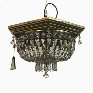 Vintage Pendant in Brass & Swarovski Crystal