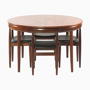 Vintage Roundette Dining Set by Hans Olsen for Frem Røjle