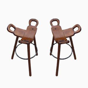 Spanish Marbella Bar Chairs, 1960s, Set of 2