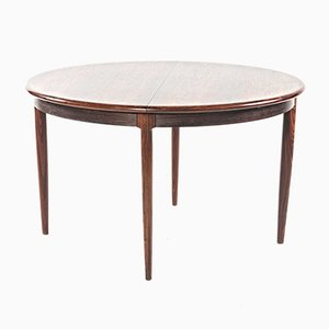 Round Rosewood Dining Table by Niels Otto Møller, 1960s