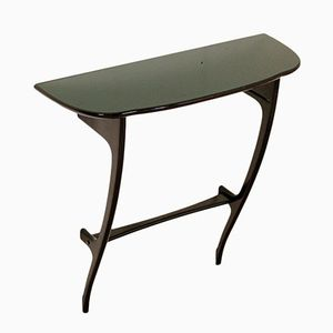 Italian Ebonized Wood Console Table, 1950s