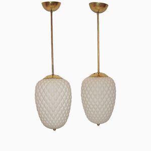 Modern Hanging Lamps, 1940s, Set of 2