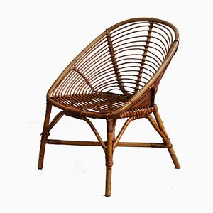 Rattan Side Chair, 1960s