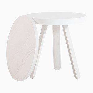 Kleiner weißer Batea Tablett Tisch von Daniel García Sánchez für WOODENDOT