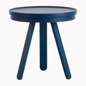 Small Blue Batea Tray Table by Daniel García Sánchez for WOODENDOT