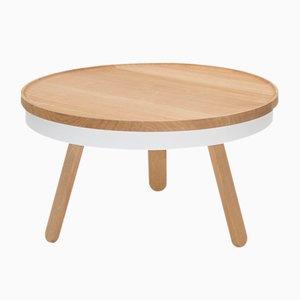 Table Basse Batea Medium en Chêne Blanc avec plateau de rangement par Daniel García Sánchez pour WOODENDOT
