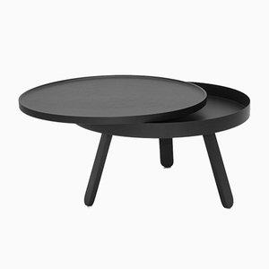 Table Basse Batea Medium Noire avec plateau de rangement par Daniel García Sánchez pour WOODENDOT
