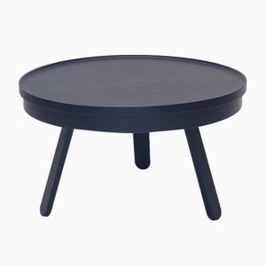 Medium Blue Batea Coffee Table with Storage by Daniel García Sánchez for WOODENDOT