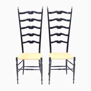Italienische Vintage Chiavari Stühle, 1950er, 2er Set