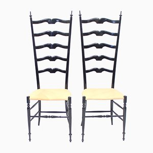 Vintage Italian Chiavari Chairs, 1950s, Set of 2