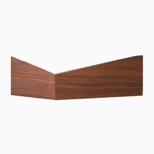 Small Walnut Pelican Shelf with Hidden Hooks by Daniel García Sánchez for WOODENDOT