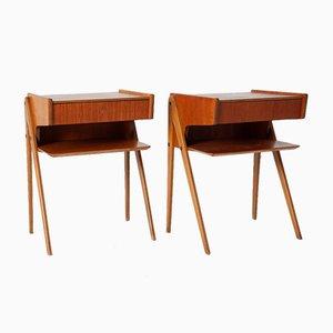 Danish Bedside Tables, 1970s