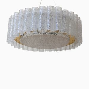 Model 5076 Ice Glass Ceiling Lamp from Doria Leuchten, 1960s