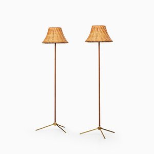 G302 Floor Lamps from Bergboms, 1950s, Set of 2