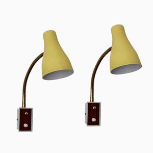 Schwanenhals Wandlampen, 1950er, 2er Set