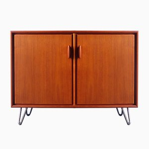 Vintage Teak Cabinet with Metal Hairpin Feet