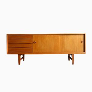 Vintage Oak Sideboard with Sliding Doors