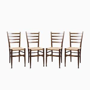 Italian Side Chairs, 1950s, Set of 4