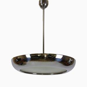 Lampe à Suspension UFO Chromée par Josef Hurka pour Napako, 1930s